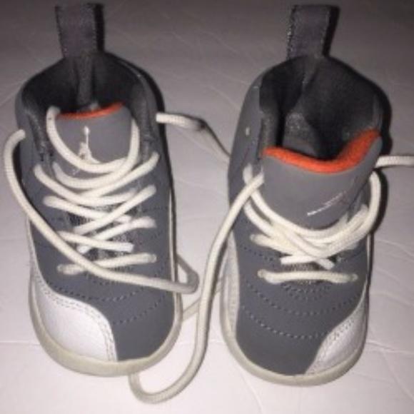reputable site e7d0f 4ed29 Infant toddler Nike Air Jordans Retro 12 grey 4c